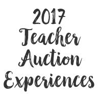 Auction Experiences
